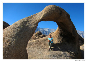 The arch in the Alabama Hills