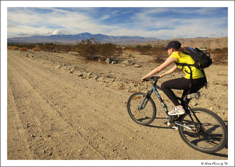Biking around Desert Hot Springs