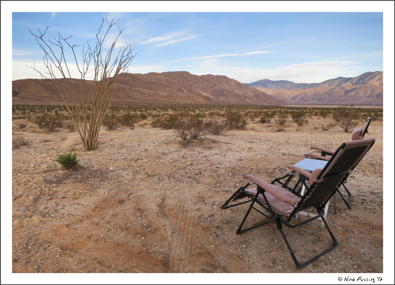 Our brand new, totally free digs in Anza Borrego