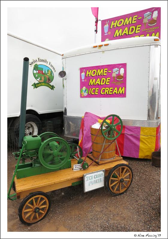 Home-made ice cream -> yeah!