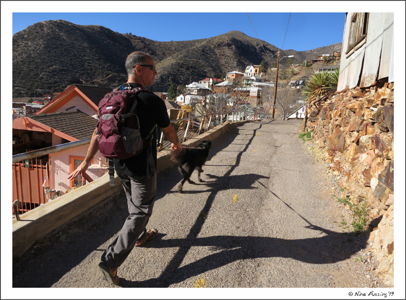 Hiking the narrow streets of Bisbee