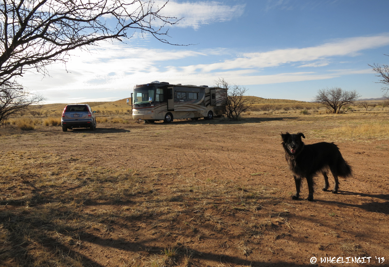 Left view of our rig at Road Canyon camp area.