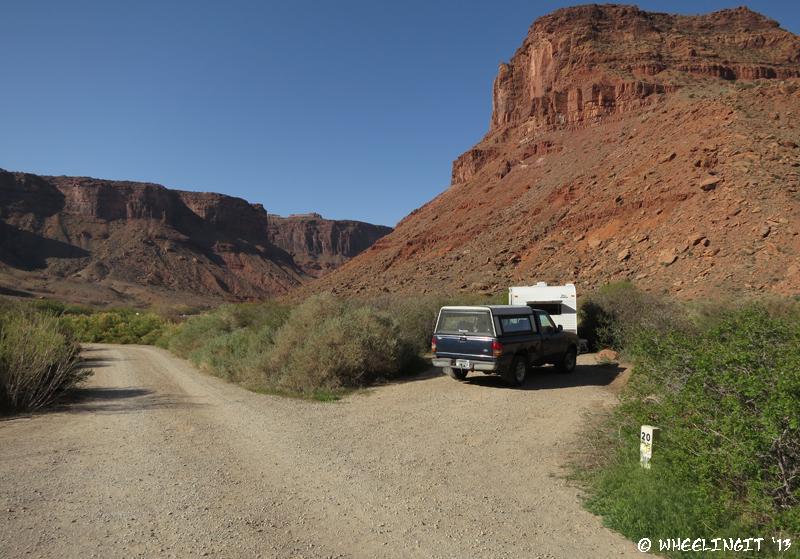 One of end campsites #20. Secluded, but again too small for us.
