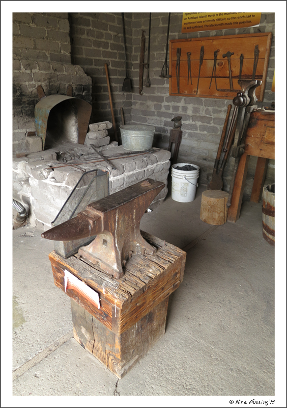 Old blacksmith equipment