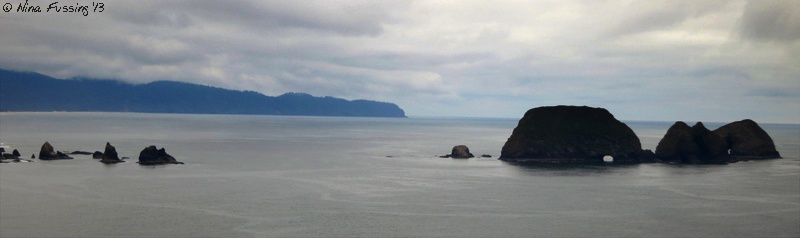 View of Three Arches from Cape Meares