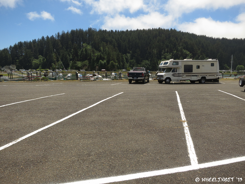 View across the parking lot (behind our RV) in D section