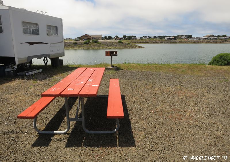 View of picnic table & grill (only in B, C, D sections)