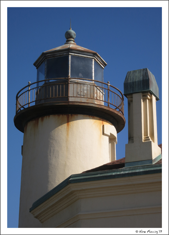 Detail of the lighthouse tower
