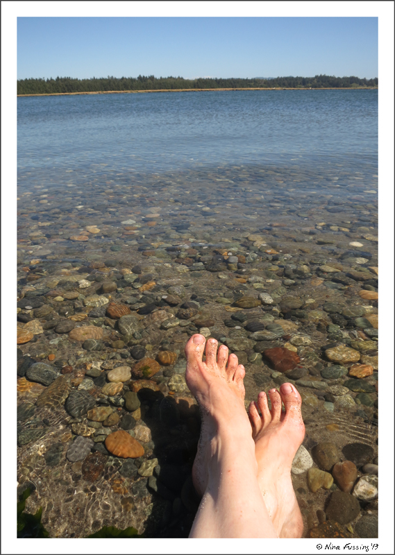 "And a brilliant day ""foot-bathing"" on the river"