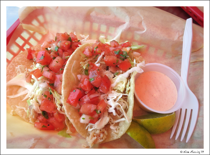 Yummy fish taco's at Tony's Crab Shack