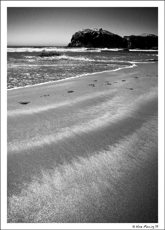 Swirls of sand at Bandon beach