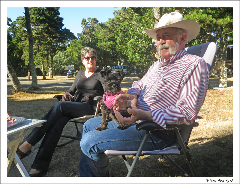 Janna, Michael & Emmi at our RV site
