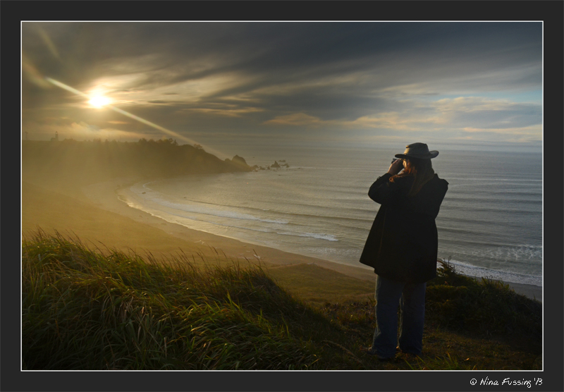 What a sunset!! Sheer perfection at Cape Blanco