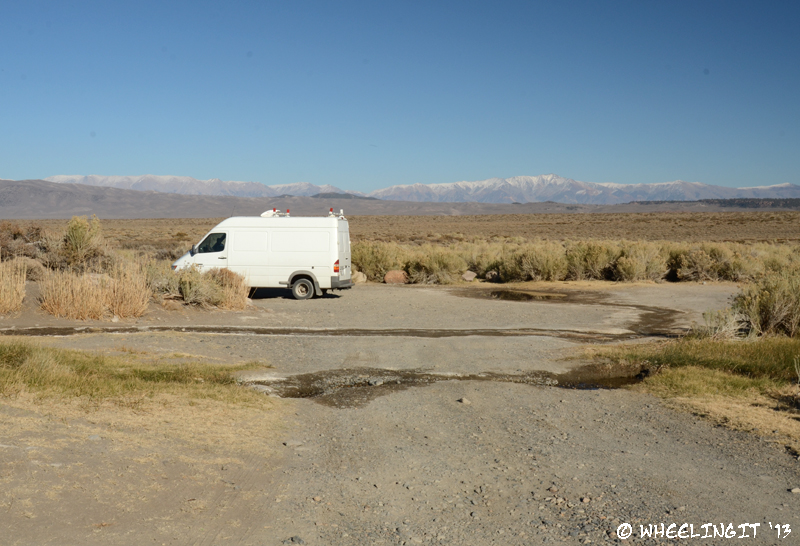 View of a smaller site off Whitmore Tubs Road. The road here was rough, but the site is right next to a hot spring.