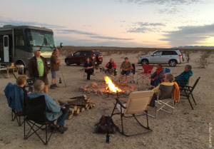 Happy hour with buddies at Anza Borrego