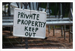 Aussies are serious about their privacy in the boonies