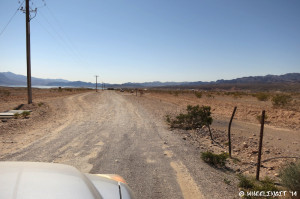View of entry to dirt road