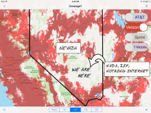 The Verizon map for Nevada thanks to Coverage? See that white abyss of nothingness?