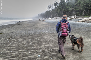 Hiking with Polly on Rialto Beach