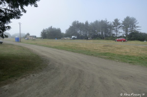 View down the road into the dispersed camping area. We are in the far back right.