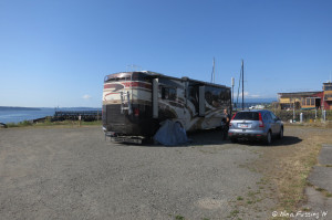 View of our site. We were in dry-camping site #360 which is one of the larger sites in the campground.