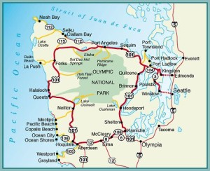 Map of the Olympic Peninsula