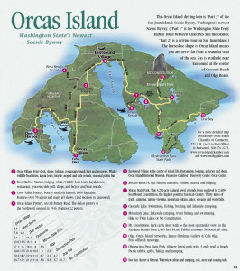 Visitor Map for Orcas Island -> Click for Larger Size