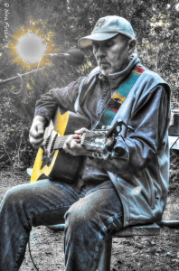 Our new buddy Pete rockin' it out at our site
