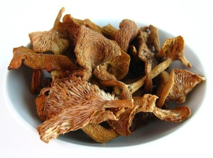 Dried mushrooms are a great back-up veggie
