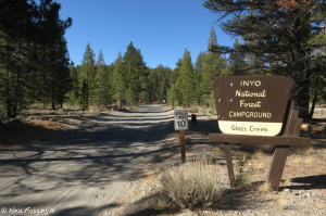 Entrance sign to the campground area