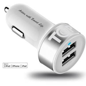 We keep several of these cheap 12V chargers around for our iPad/phones etc.