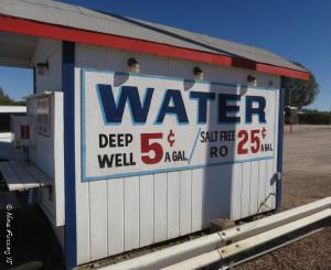 A water dispenser in Quartzsite, AZ