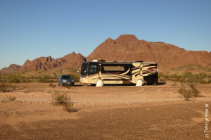 Side view of our spacious site. We were parked near the KOFA/BLM boundary