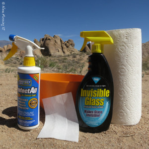 Our bug cleaning gear