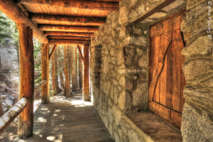 Lon Chaney's solid stone cabin