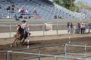 Rodeo time at the arena in the Bishop Fairgrounds
