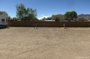 Front view of the empty sites. There's not much here except hookups-in-a-row