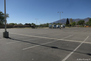 View of main parking area. You can dry-camp here too.